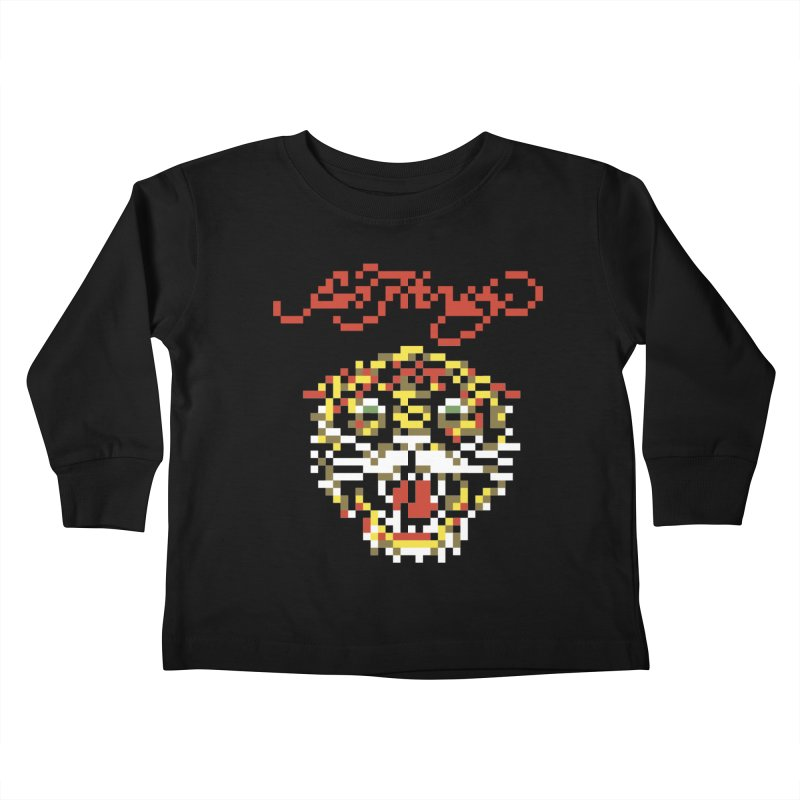 Tasteful Tiger Kids Toddler Longsleeve T-Shirt by Aled's Artist Shop