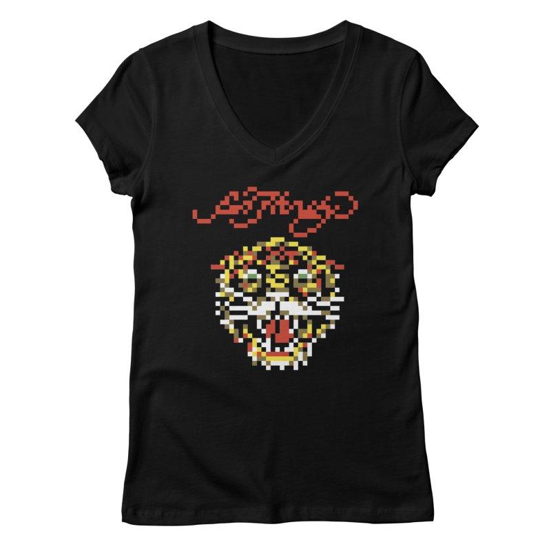 Tasteful Tiger Women's Regular V-Neck by Aled's Artist Shop