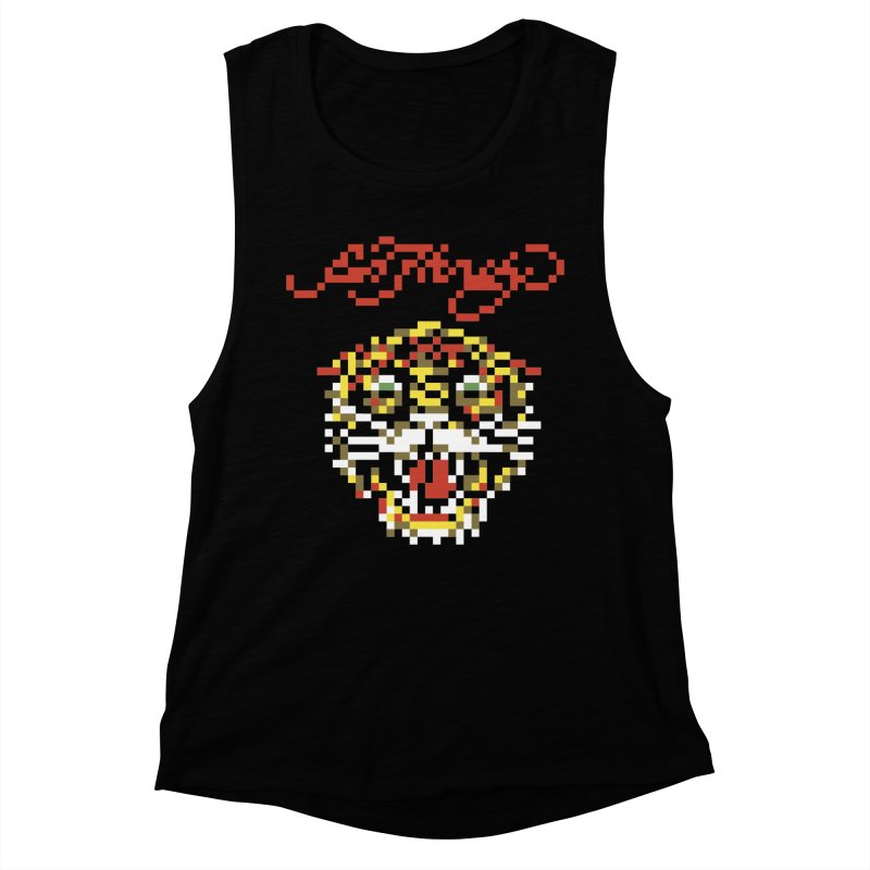 Tasteful Tiger Women's Muscle Tank by Aled's Artist Shop