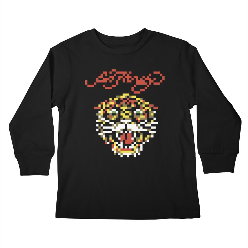 Tasteful Tiger Kids Longsleeve T-Shirt by Aled's Artist Shop