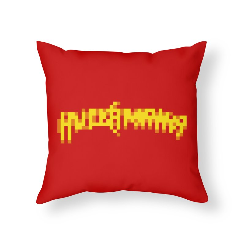 Wrestling Frenzy Home Throw Pillow by Aled's Artist Shop