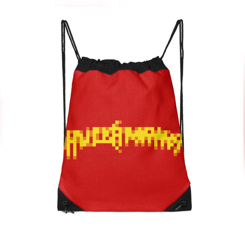 Wrestling Frenzy Accessories Drawstring Bag Bag by Aled's Artist Shop
