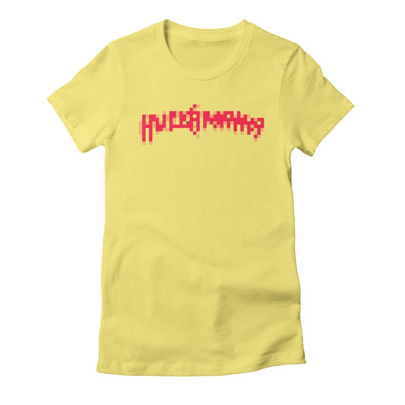 Wrestling Frenzy Women's Fitted T-Shirt by Aled's Artist Shop