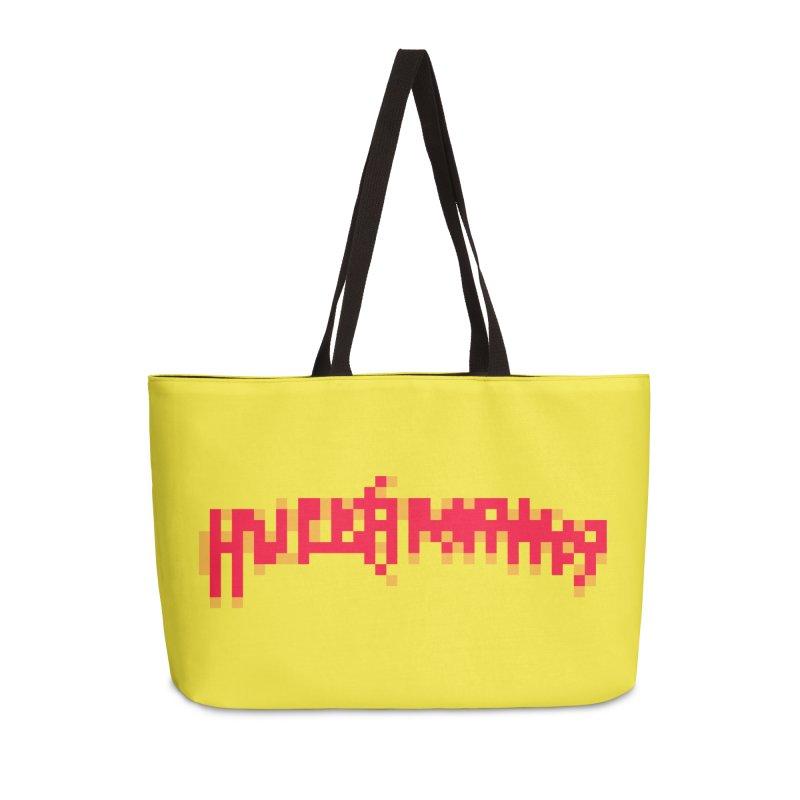 Wrestling Frenzy Accessories Weekender Bag Bag by Aled's Artist Shop