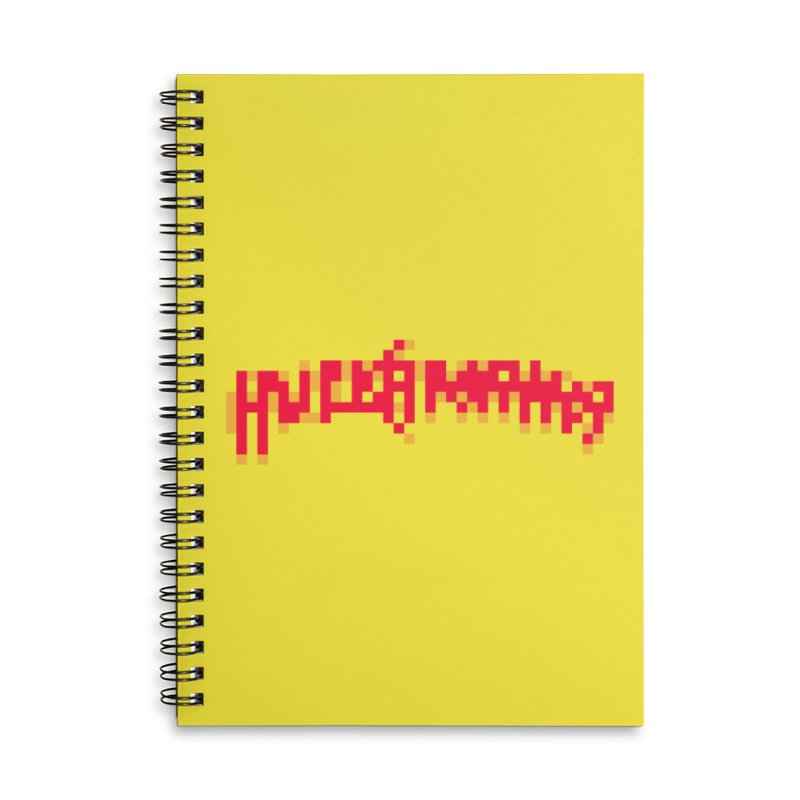Wrestling Frenzy Accessories Lined Spiral Notebook by Aled's Artist Shop