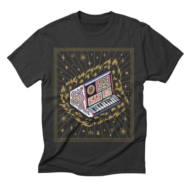Talisman Fuego Dorado Men's Triblend T-Shirt by alejandro sordi