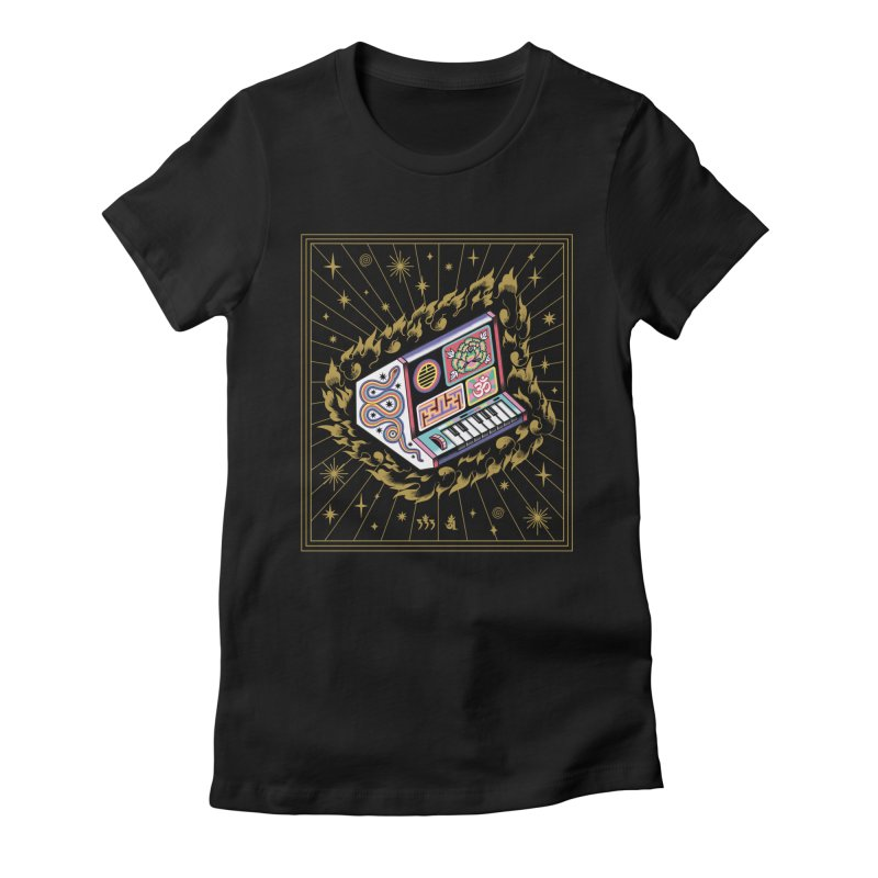 Talisman Fuego Dorado Women's Fitted T-Shirt by alejandro sordi