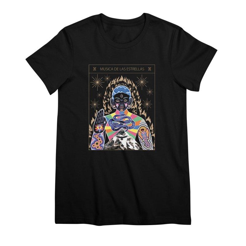Musica de las Estrellas Women's Premium T-Shirt by alejandro sordi