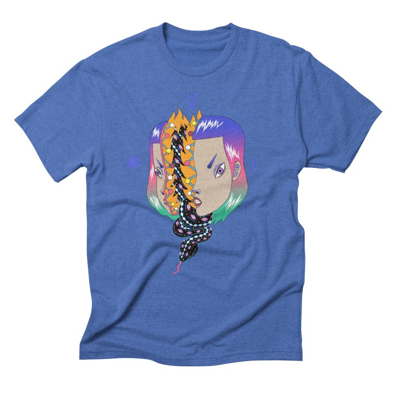 La Serpiente Men's Triblend T-Shirt by alejandro sordi