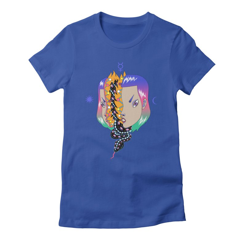 La Serpiente Women's Fitted T-Shirt by alejandro sordi