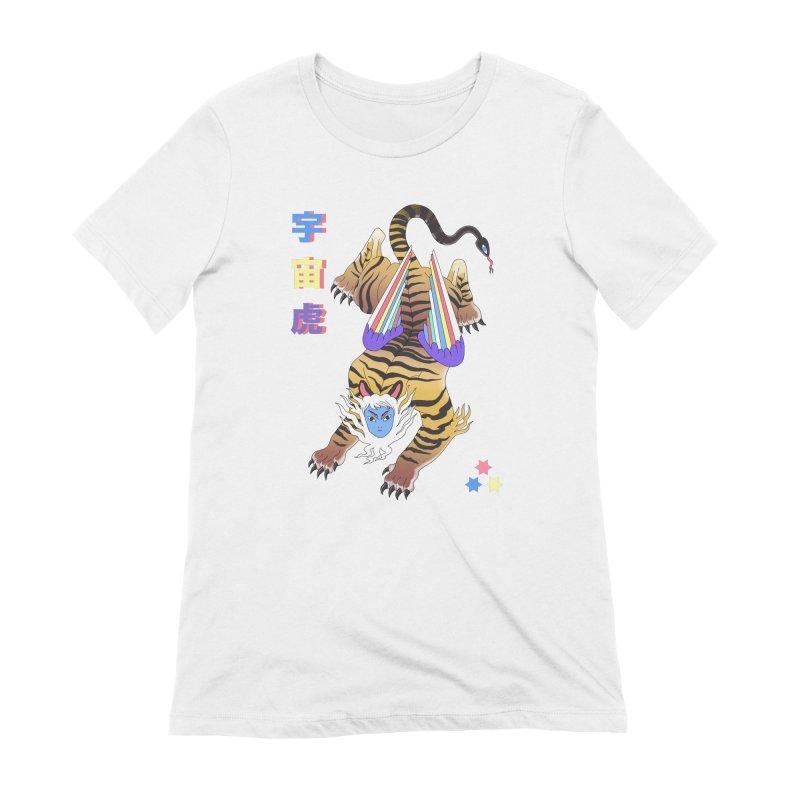 Tigre Cosmico Women's Extra Soft T-Shirt by alejandro sordi