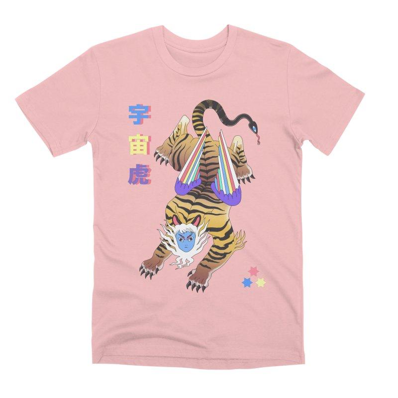 Tigre Cosmico Men's Premium T-Shirt by alejandro sordi