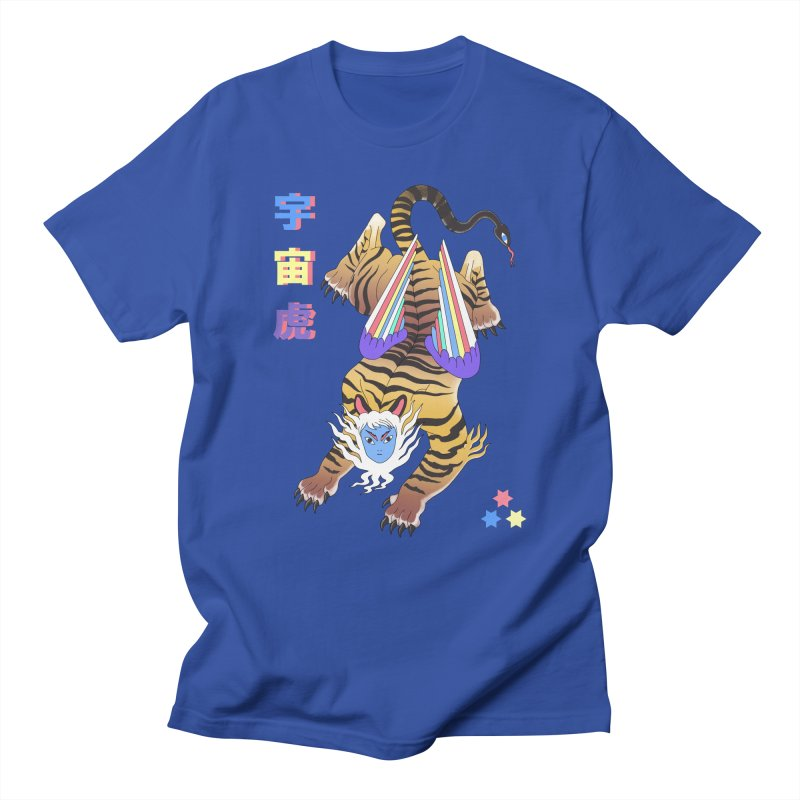 Tigre Cosmico Men's T-Shirt by alejandro sordi