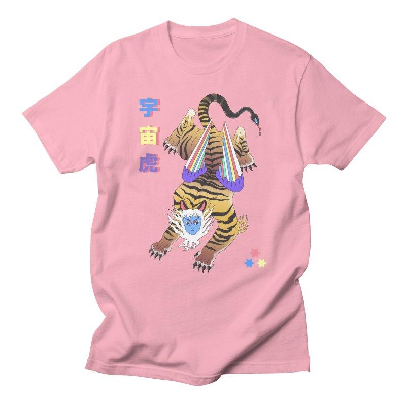 Tigre Cosmico Men's T-Shirt by alejandro sordi