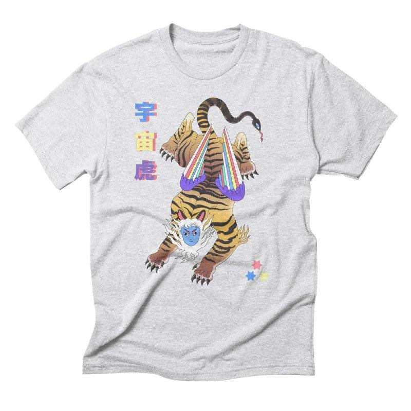 Tigre Cosmico Men's Triblend T-Shirt by alejandro sordi