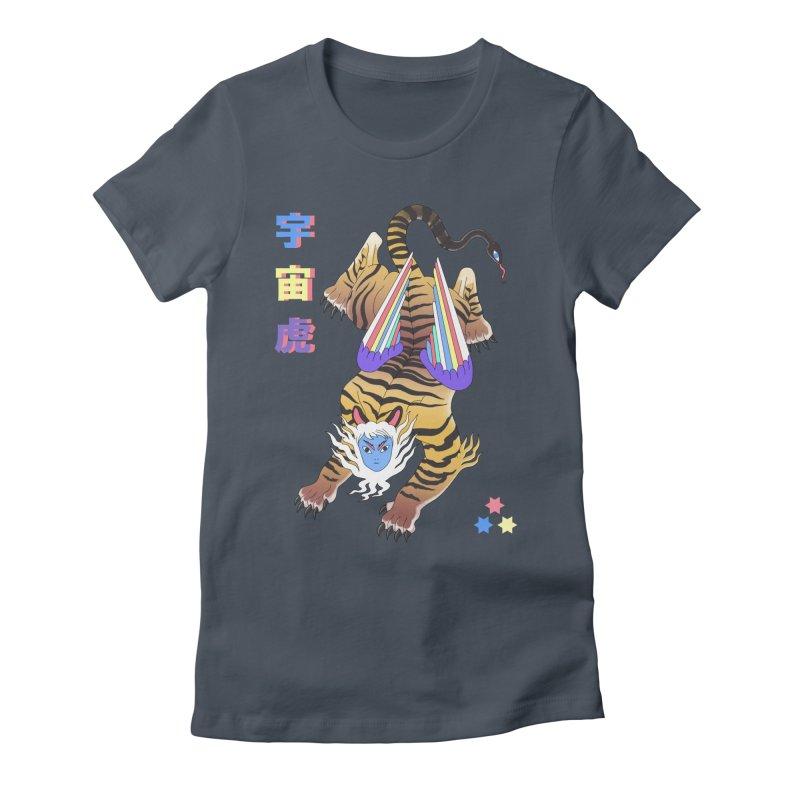 Tigre Cosmico Women's T-Shirt by ALEJANDRO SORDI