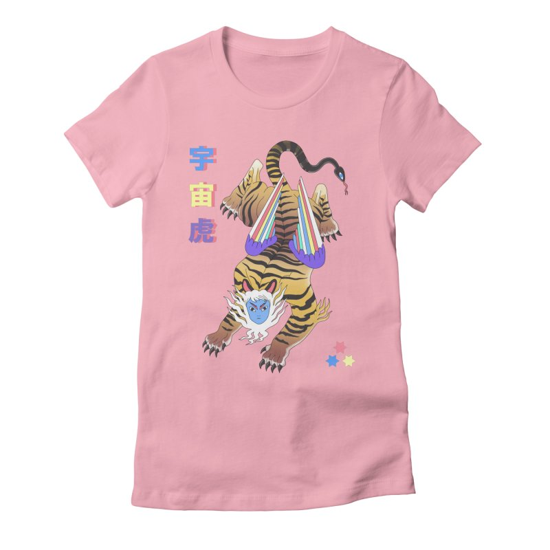 Tigre Cosmico Women's Fitted T-Shirt by alejandro sordi