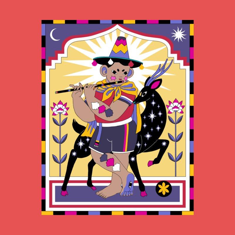 El Flautista Men's Zip-Up Hoody by ALEJANDRO SORDI