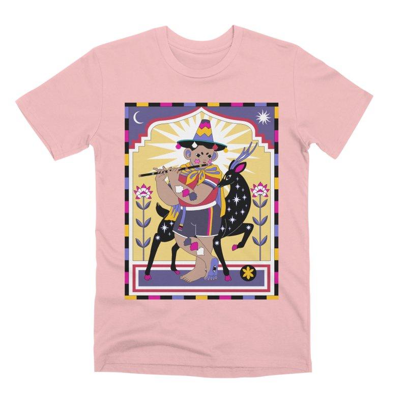 El Flautista Men's Premium T-Shirt by alejandro sordi