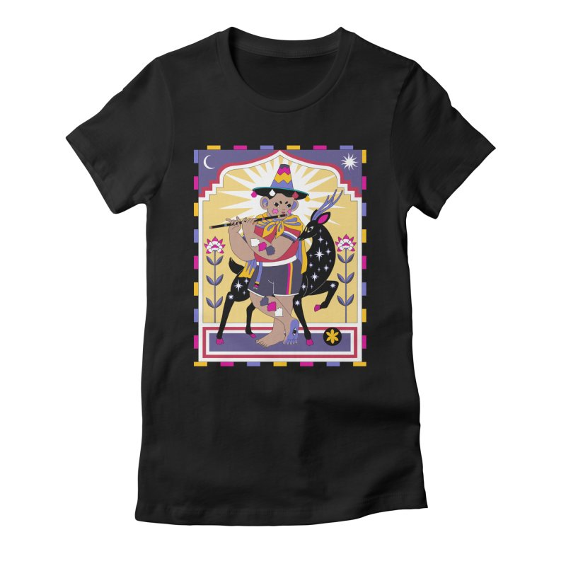 El Flautista Women's Fitted T-Shirt by alejandro sordi