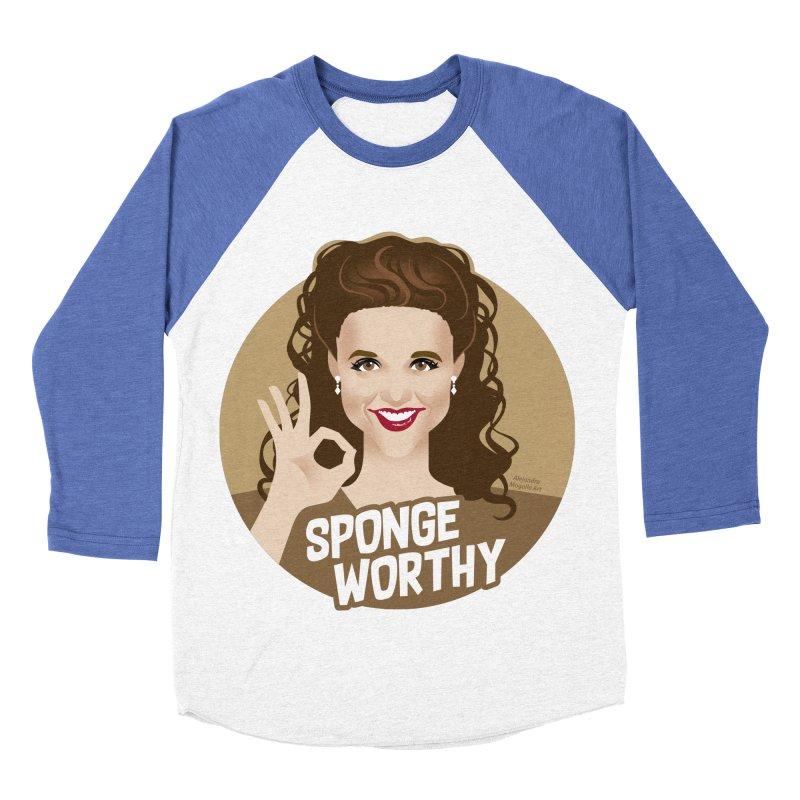 Sponge worthy Women's Baseball Triblend Longsleeve T-Shirt by Ale Mogolloart's Artist Shop