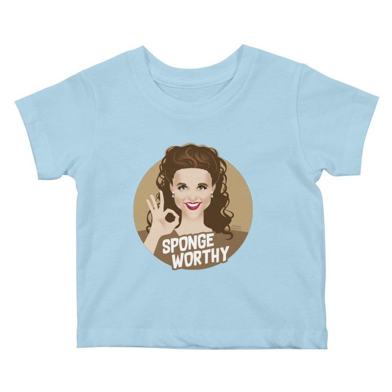 Sponge worthy Kids Baby T-Shirt by Ale Mogolloart's Artist Shop