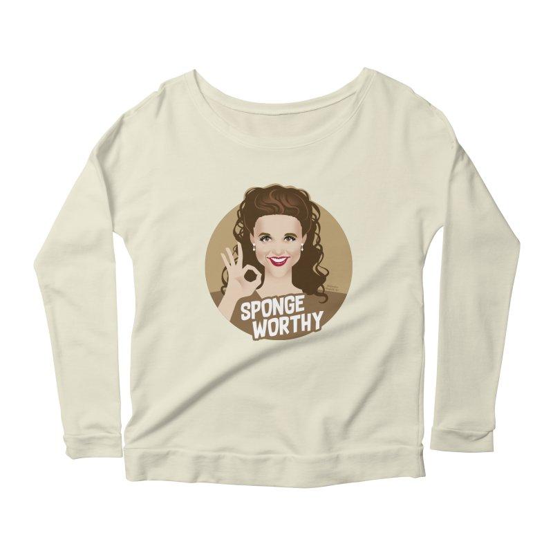 Sponge worthy Women's Scoop Neck Longsleeve T-Shirt by Ale Mogolloart's Artist Shop