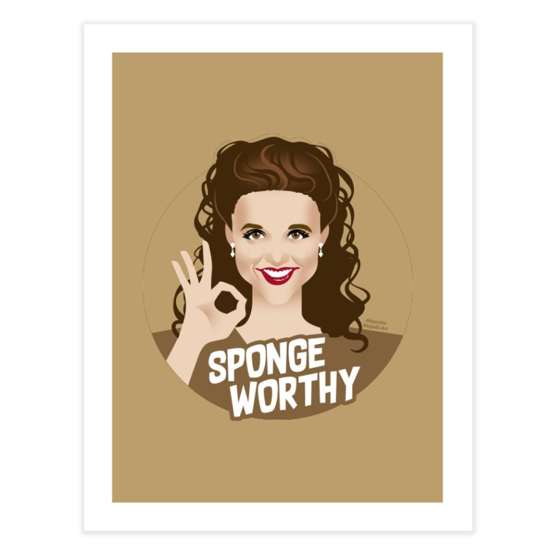 Sponge worthy Home Fine Art Print by Ale Mogolloart's Artist Shop