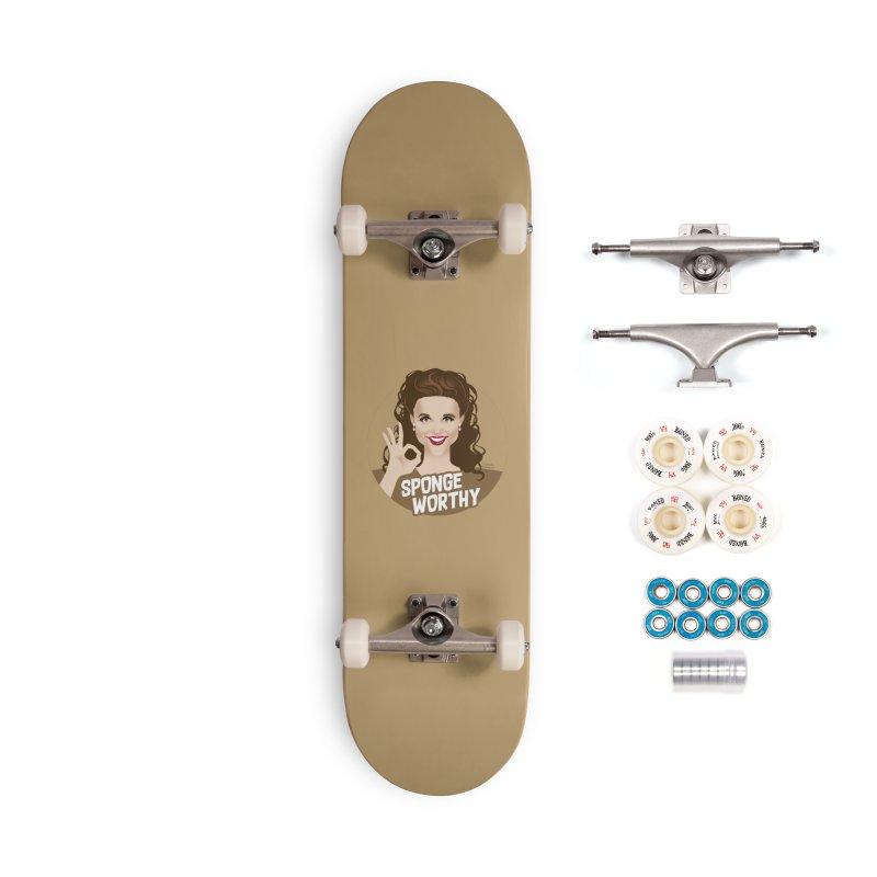 Sponge worthy Accessories Complete - Premium Skateboard by Ale Mogolloart's Artist Shop