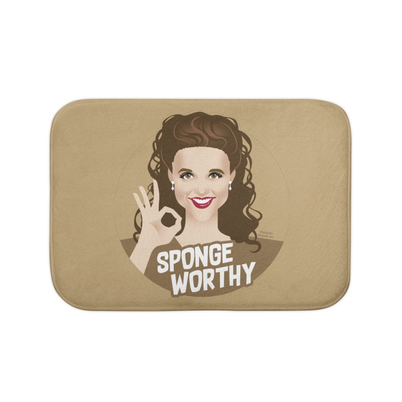 Sponge worthy Home Bath Mat by Ale Mogolloart's Artist Shop