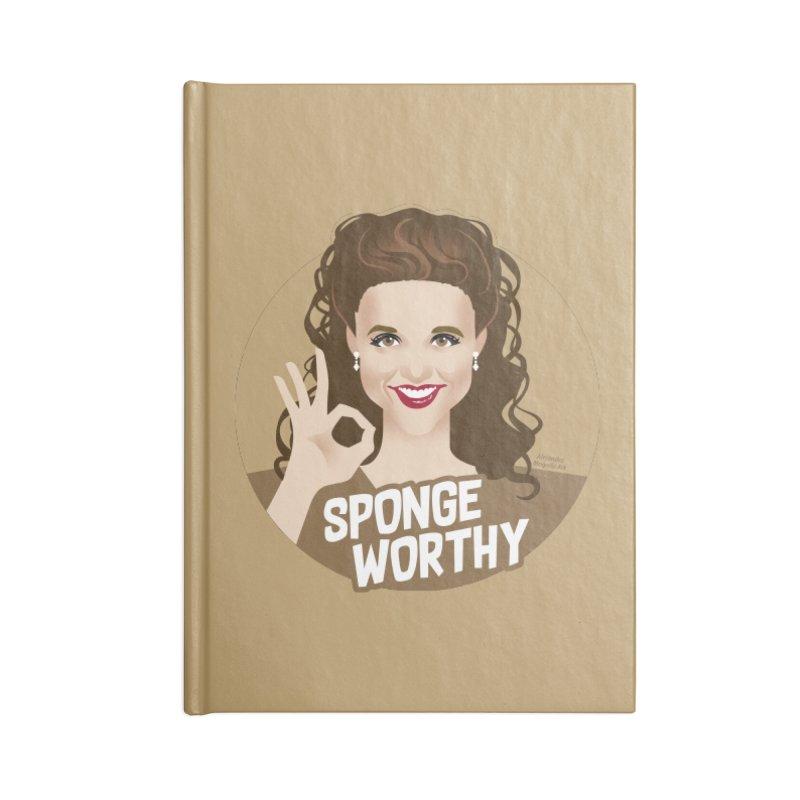 Sponge worthy Accessories Lined Journal Notebook by Ale Mogolloart's Artist Shop