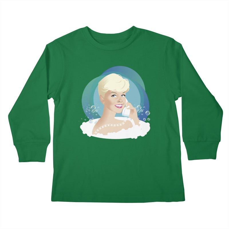 Pillow talk Kids Longsleeve T-Shirt by Ale Mogolloart's Artist Shop