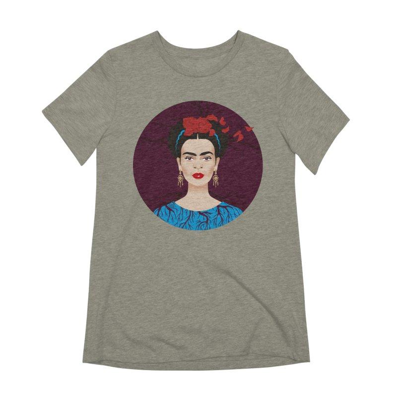 Frida Women's Extra Soft T-Shirt by Ale Mogolloart's Artist Shop