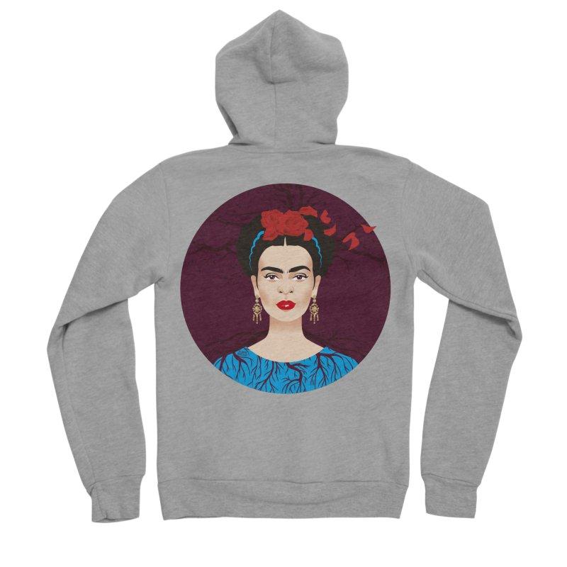 Frida Men's Sponge Fleece Zip-Up Hoody by Ale Mogolloart's Artist Shop