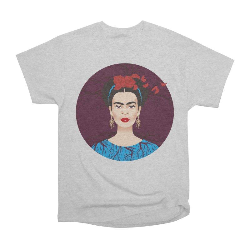 Frida Men's Heavyweight T-Shirt by Ale Mogolloart's Artist Shop