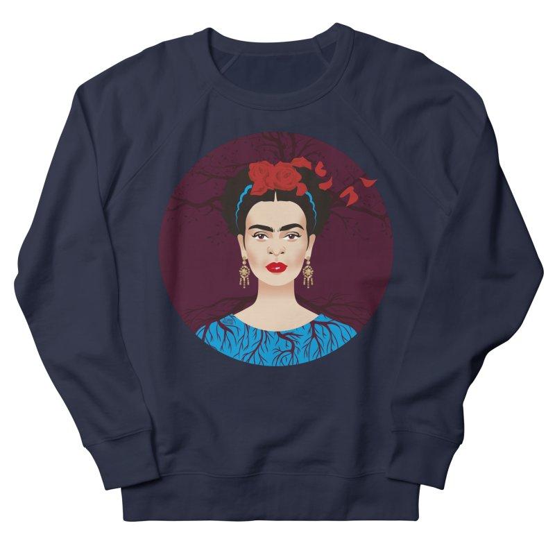 Frida Men's French Terry Sweatshirt by Ale Mogolloart's Artist Shop