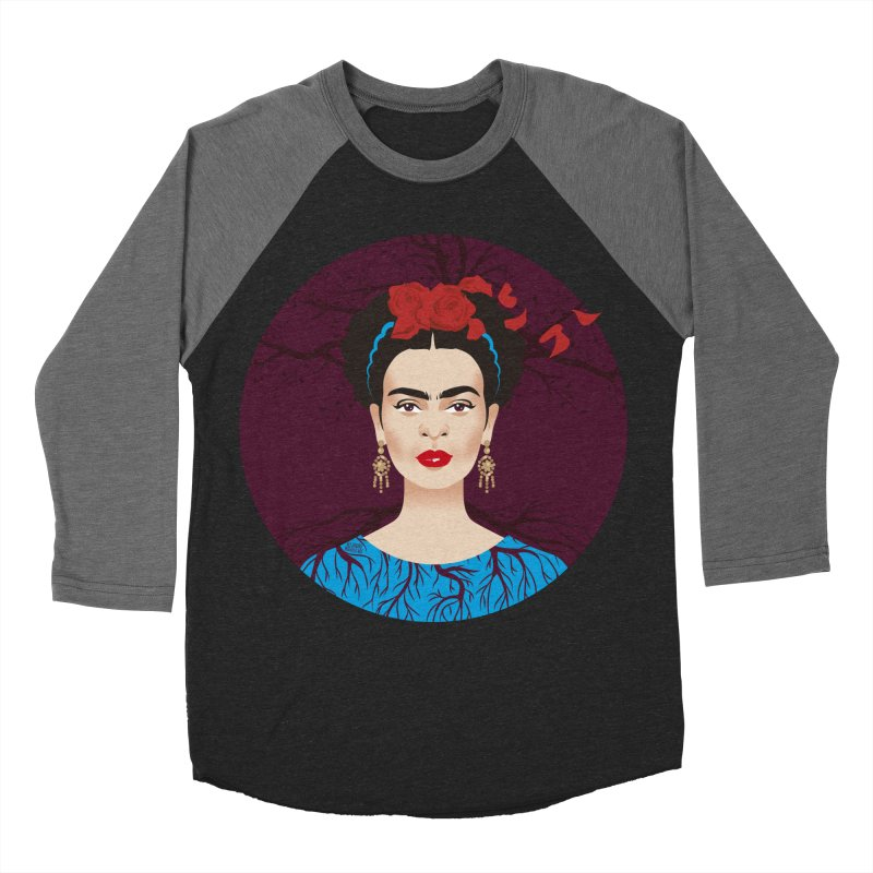 Frida Women's Baseball Triblend Longsleeve T-Shirt by Ale Mogolloart's Artist Shop