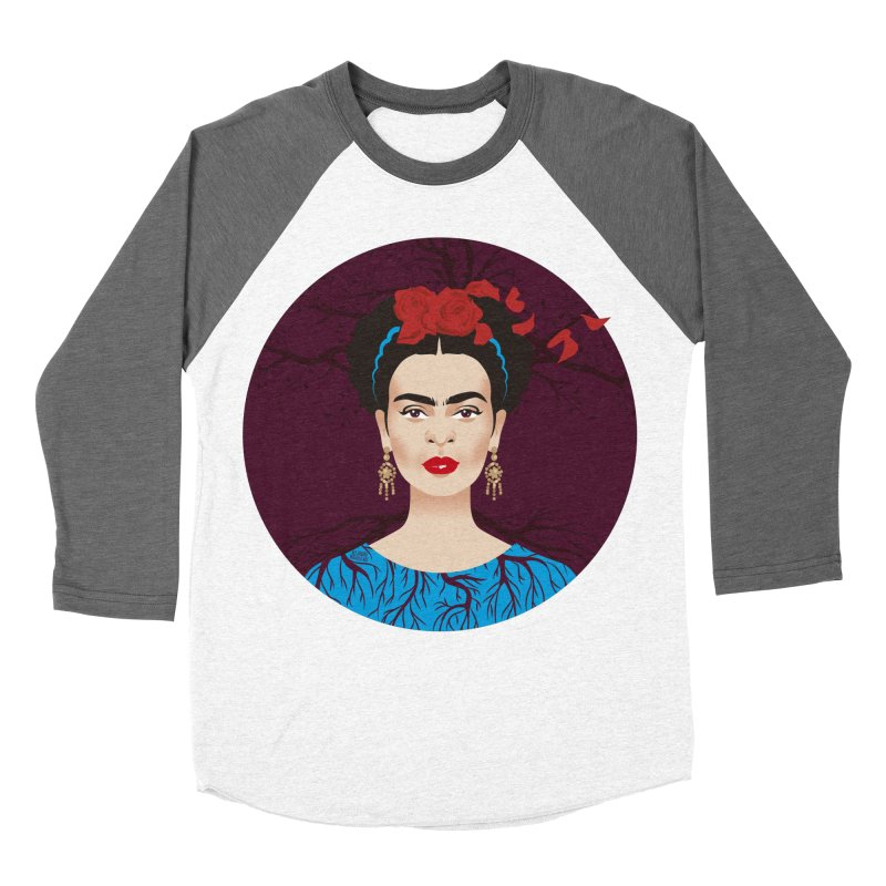 Frida Men's Baseball Triblend Longsleeve T-Shirt by Ale Mogolloart's Artist Shop