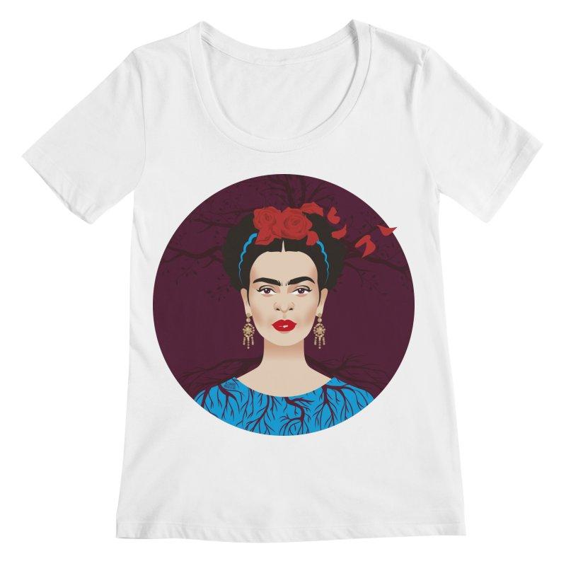 Frida Women's Regular Scoop Neck by Ale Mogolloart's Artist Shop