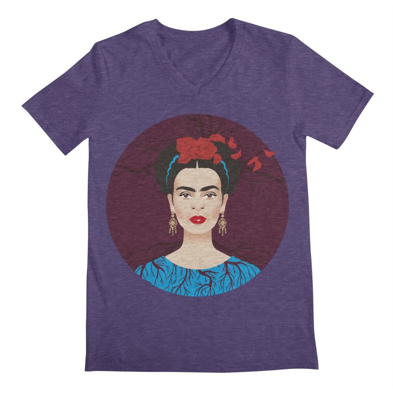 Frida Men's Regular V-Neck by Ale Mogolloart's Artist Shop