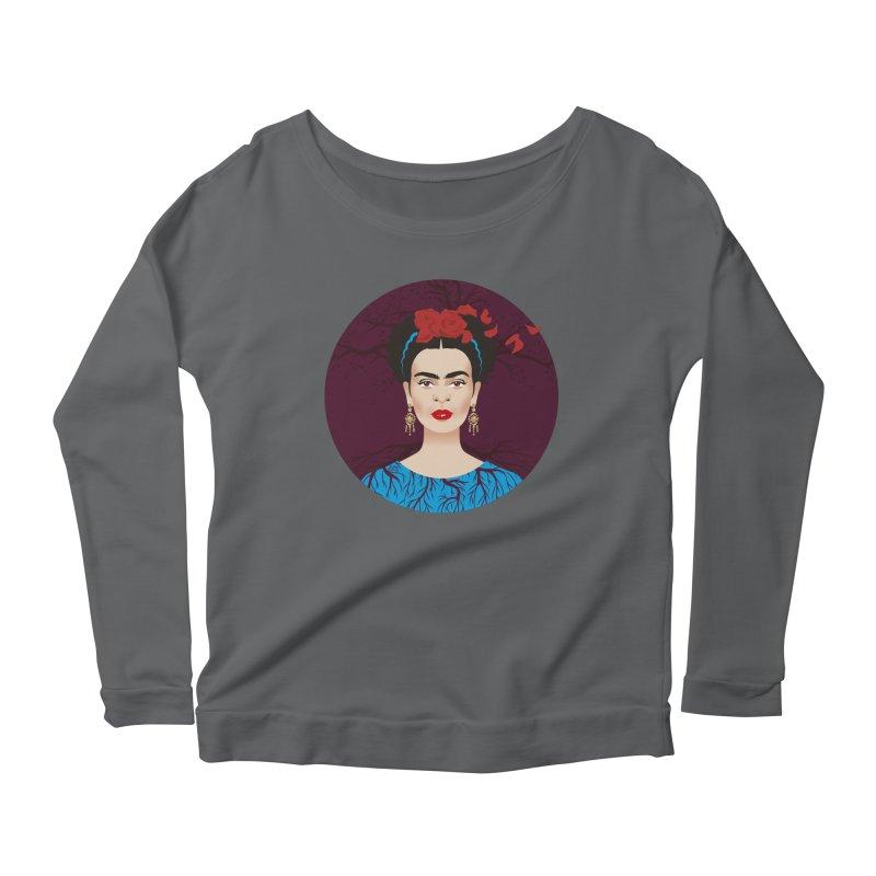 Frida Women's Scoop Neck Longsleeve T-Shirt by Ale Mogolloart's Artist Shop