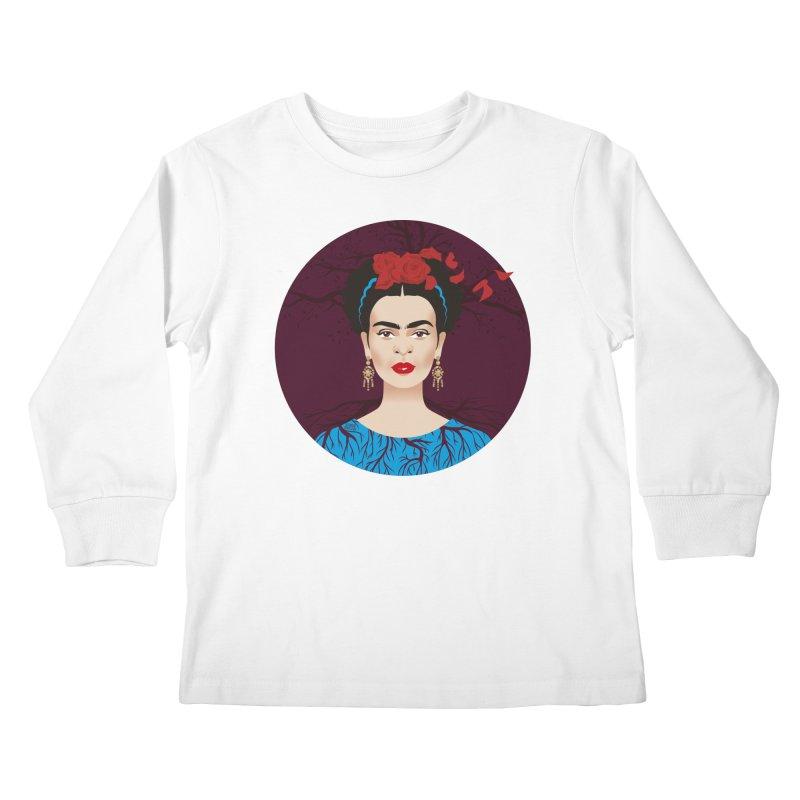 Frida Kids Longsleeve T-Shirt by Ale Mogolloart's Artist Shop