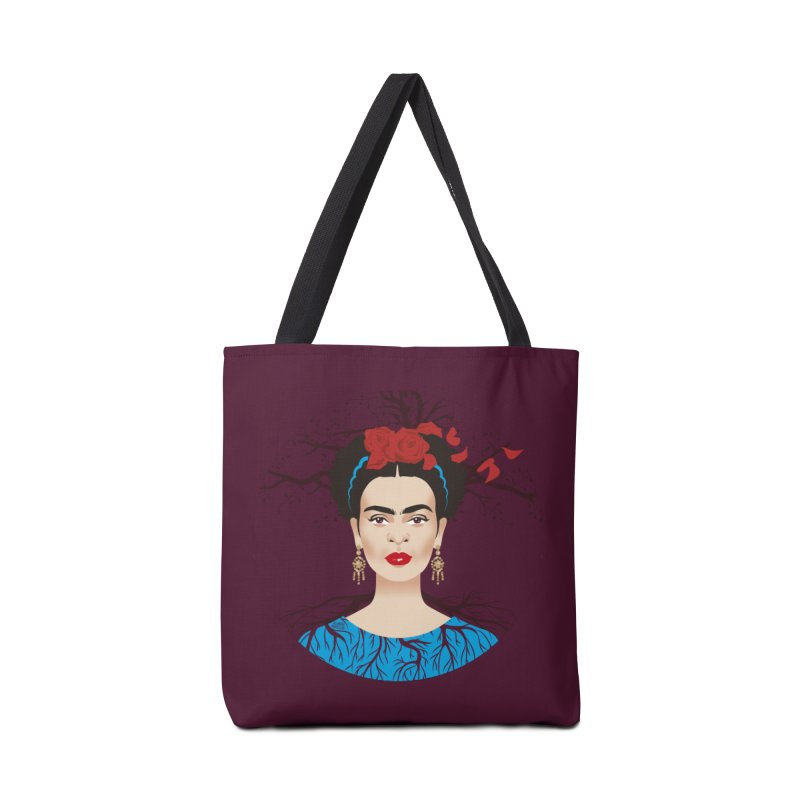 Frida Accessories Tote Bag Bag by Ale Mogolloart's Artist Shop