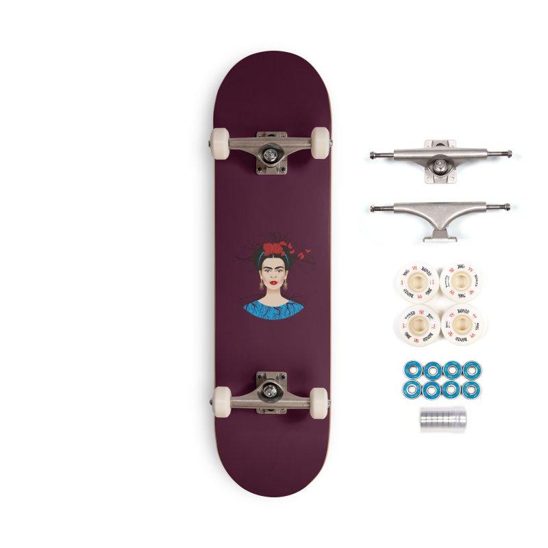 Frida Accessories Complete - Premium Skateboard by Ale Mogolloart's Artist Shop