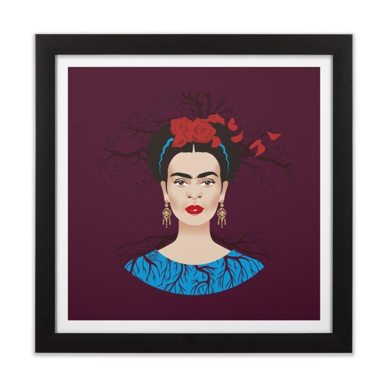 Frida Home Framed Fine Art Print by Ale Mogolloart's Artist Shop