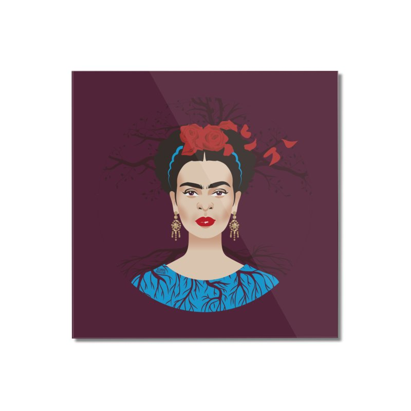 Frida Home Mounted Acrylic Print by Ale Mogolloart's Artist Shop
