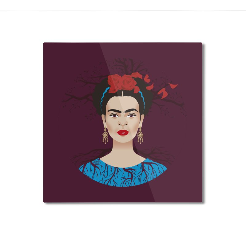 Frida Home Mounted Aluminum Print by Ale Mogolloart's Artist Shop