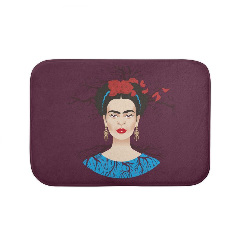 Frida Home Bath Mat by Ale Mogolloart's Artist Shop