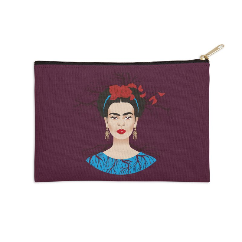 Frida Accessories Zip Pouch by Ale Mogolloart's Artist Shop