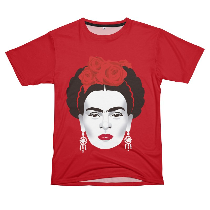 Red Frida Men's T-Shirt Cut & Sew by Ale Mogolloart's Artist Shop
